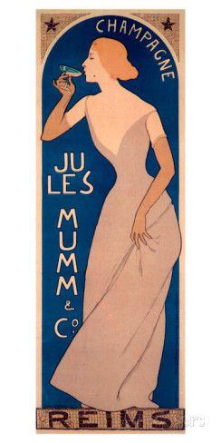 Champagne Ju Les Mumm reproduction procédé giclée sur AllPosters.fr