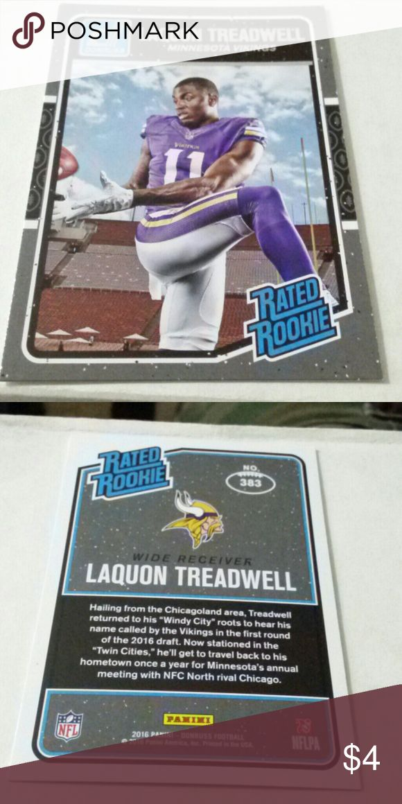 LAQUON TREADWELL VIKINGS ROOKIE CARD LAQUON TREADWELL VIKINGS FOOTBALL ROOKIE CARD IN LIKE NEW CONDITION Other