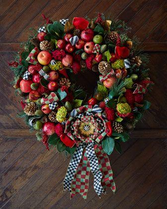 "Estate Barn 36"" Wreath by MacKenzie-Childs at Neiman Marcus."