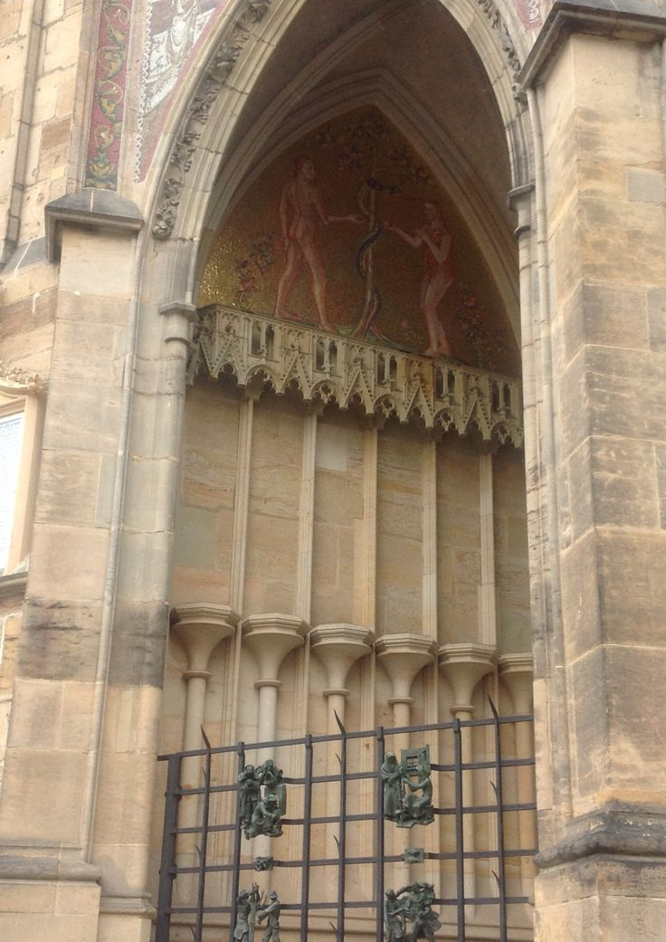 Architecture detail, church , Prague