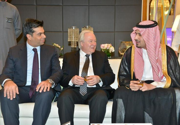 Nizar Abou Hassan, Director Premium Products Management, American Express Saudi Arabia Limited, Graham Cooke, Chairman of World Luxury Group and HH Prince Mohammad bin Abdulrahman bin Abdullah Al Faisal