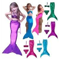Wish | Princess Ariel Little Mermaid Tail Dress  Kid Mermaid Tails Costume Bikini Swimsuit
