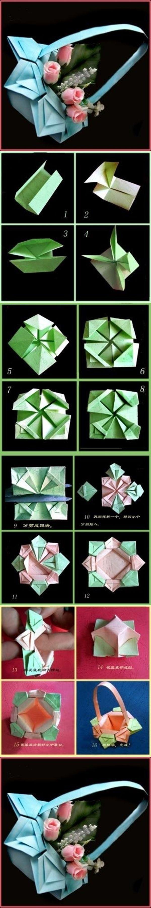DIY Origami Paper Basket | www.FabArtDIY.com LIKE Us on Facebook ==> https://www.facebook.com/FabArtDIY