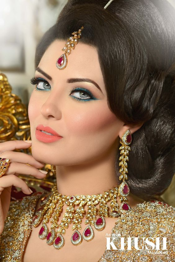 Engagement Bridals, Makeup Tutorial Tips & Dress Ideas 2016-2017 for South Asian Bridals (4)