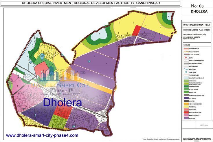 Map of DHOLERA, DholeraSIR #Dholera #DholeraSIR #DholeraSmartCity #Gujarat