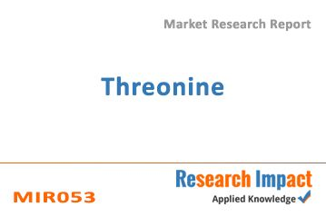 Threonine gives a market insight into types (L-Threonine, D-Threonine and Other) and applications in Feed, Nutraceutical, and Other. The report serves as a guide to the global threonine industry, covering more than 300 companies that are engaged in production and processing of raw material or end use product. Information related to recent product releases, product developments, partnerships, collaborations, and mergers and acquisitions is covered in the report.