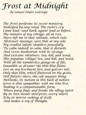 POEM: Frost at Midnight by Samuel Taylor Coleridge