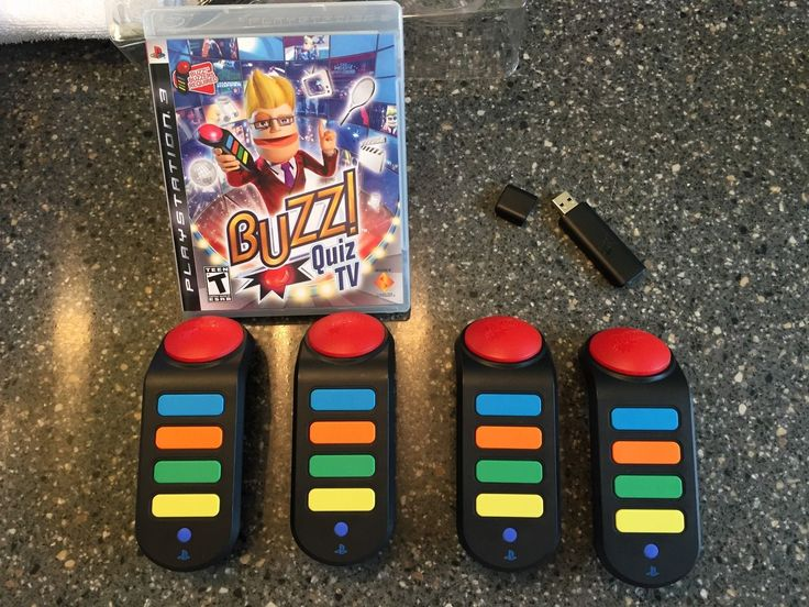 Buzz! Quiz TV (Sony PlayStation 3, 2008) With Wireless Buzzers USB Dongle PS3: $75.00 End Date: Wednesday Mar-28-2018 21:49:00 PDT Buy It…