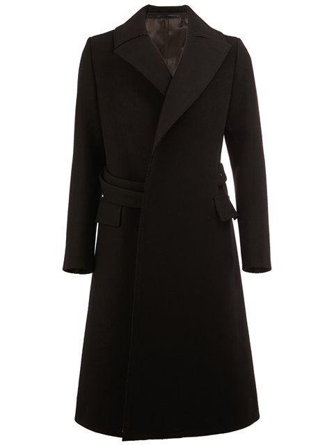 Купить Lanvin diagonal double-breasted coat в Vitkac from the world's best independent boutiques at farfetch.com. 400 бутиков, 1 адрес. .