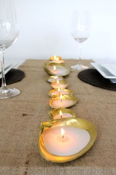 #DIY shell #candles/Repinned via Decorget