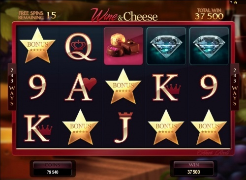 5 scatter on Microgaming slot The finer reels of life pays 250x total bet (1,50€)