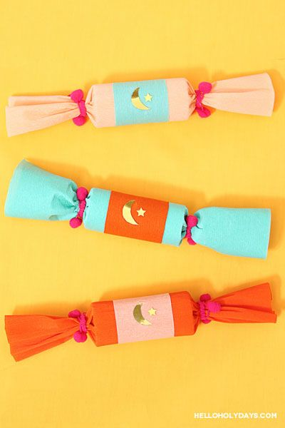 In North America, British Christmas crackers grace holiday tables year round, not just December. From Valentine's Day, to Halloween to Hannukah, every holiday has its own version of these crackers. Here's how to make a Ramadan version of these popular party crackers. Use brightly coloured crepe paper, embellish with the symbol of Islam (in gold …
