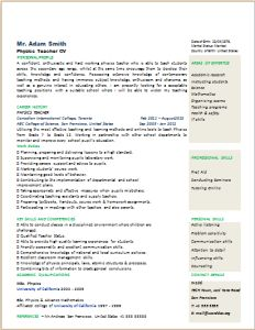Resume Template at www.word-documents.com