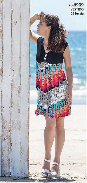 Vestido verano Vania Geométrio  de punto.