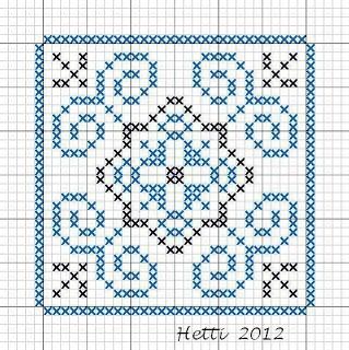 Creative Workshops from Hetti: # SAL Delft Blue Tiles 2012, Tile 13 (tile 14 in the sampler)