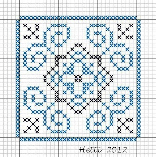 Creative Workshops from Hetti: # SAL Delft Blue Tiles 2012, Tile 13 (tile 14 in the sampler)