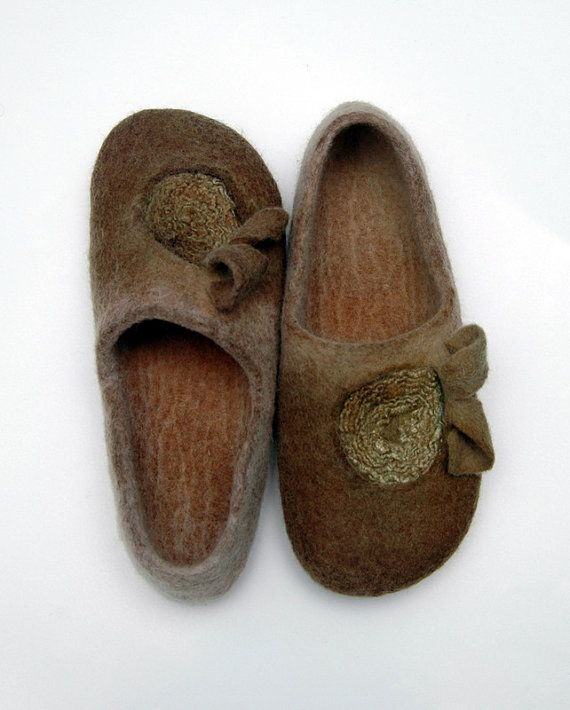 ECO dyed Felted slippers by jurgaZa on Etsy, $70.00