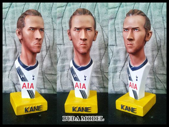 Harry Kane.Resin.Bust Statue Caricature by BUDAMODEL on Etsy
