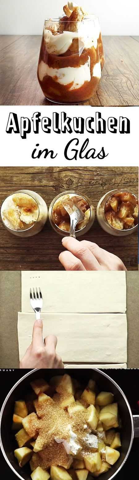 Klassischer Apfelkuchen ist viel zu langweilig - dieses Rezept für Apfelkuchen im Glas kommt da genau richtig. Probier's aus!