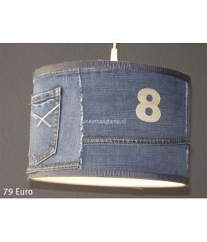 Jeans lamp! Made by kinderhanglamp www.metdehand.nl