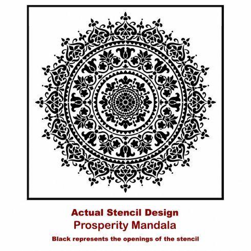 The Prosperity Mandala Stencil from Cutting Edge Stencils. http://www.cuttingedgestencils.com/prosperity-mandala-stencil-yoga-mandala-stencils-designs.html