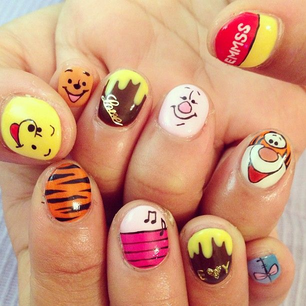 Tigger Nails: 136 Best Winnie The Pooh And Friends Images On Pinterest