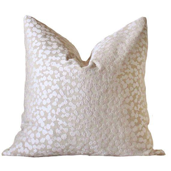 Modern Sand Neutral Pillow- Beige Off White Geometric Pillow Cover - Tan Textured Linen Throw Pillow - Beige Pillow - Designer Pillow