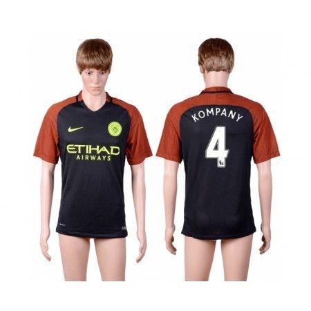 Manchester City 16-17 Vincent #Kompany 4  Bortatröja Kortärmad,259,28KR,shirtshopservice@gmail.com