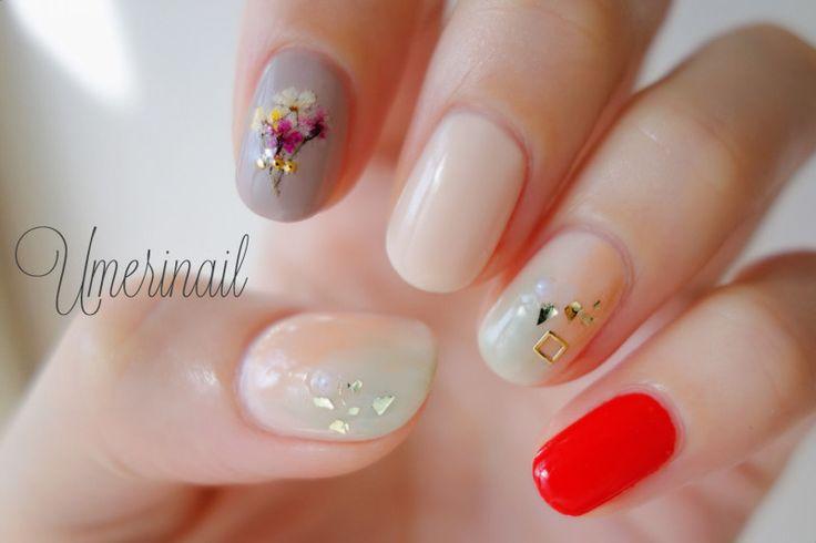 秋のニュアンス nail|うめりのセルフネイル。