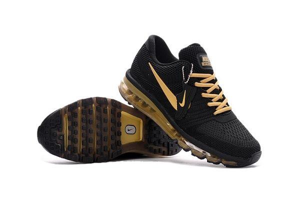 7b6c67e157653 Nike Air Max 2017 Men Shoes Black Gold KPU by Melena Marcos