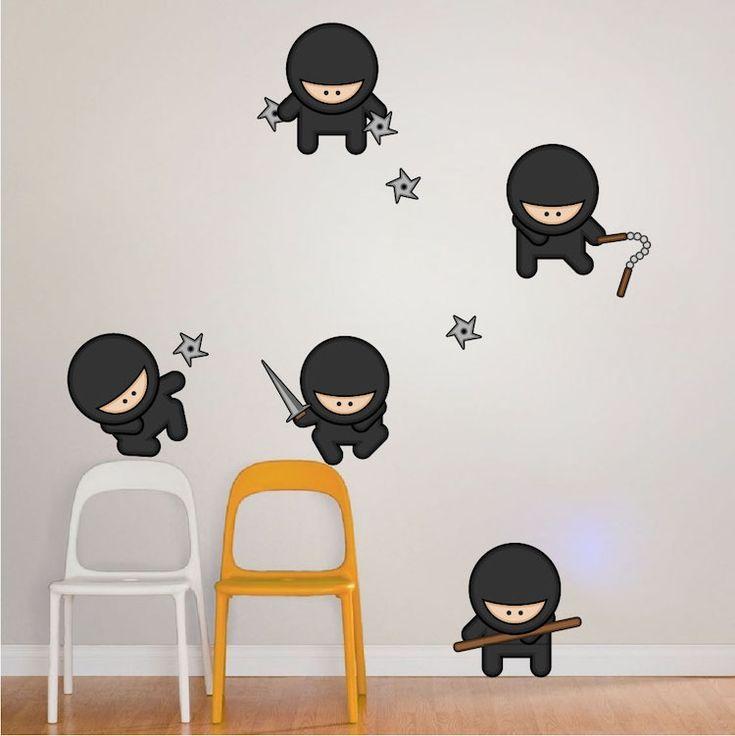 Ninja Wall Art Decals - Asian Wall Mural Stickers - Primedecals