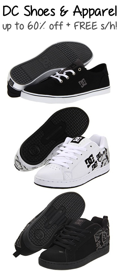 DC Shoes and Apparel: up to 60% off + FREE Shipping!! #shoes