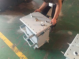 Farady single pole transformer cover with a minimum dielectric strength of 8 kV http://www.distribution-transformer.com/conventional-transformer/single-pole-transformer.html