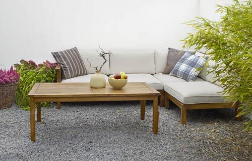 Dallas – Byggbar soffa i Akacia. Utemöbler, trädgårdsmöbler, Outdoor furniture.