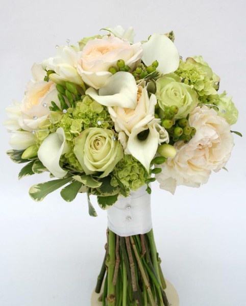 Green Hydrangea Wedding Bouquet