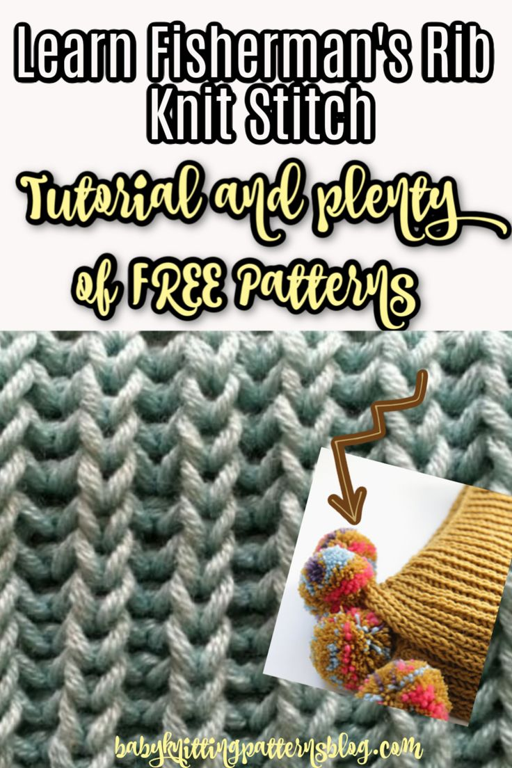 how to knit a ribbing