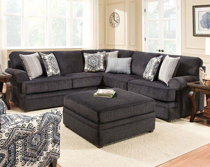 Bellamy Slate 2 Pc Sectional Sofa Beach Furniture