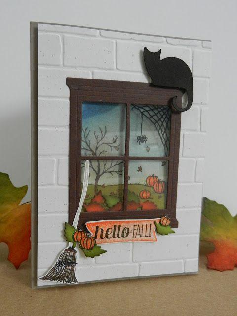 Stamp-ing: Bundel: Brick Wall embossing folder, 'Hearth & Home' Thinlits en 'Happy Scenes' . www.stamp-ing.blogspot.nl