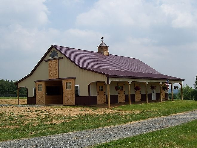 Pictures of metal barns foaling barn roof white metal for Steel barn homes