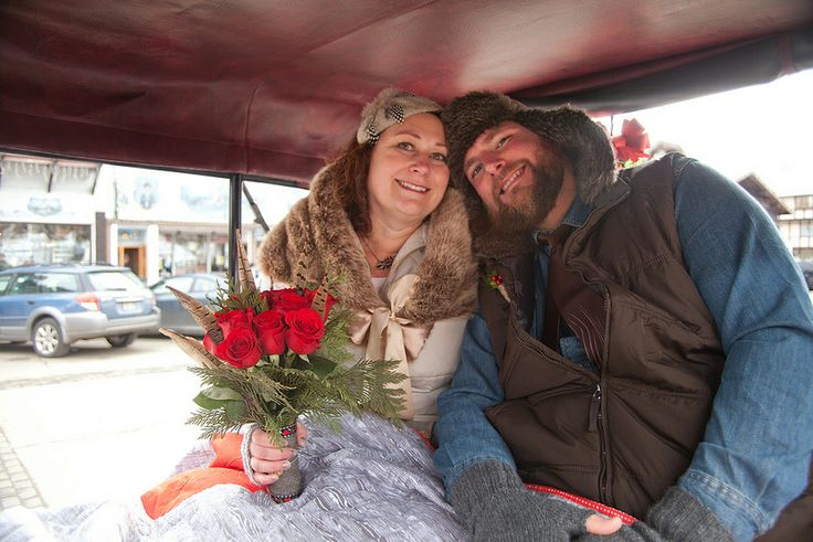 Kris & Justin's outdoorsy handmade Bavarian-style wedding featured on Offbeatbride.com!