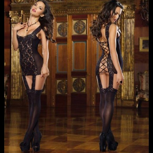 Very sexy black lace one pice lingerie Very sexy black one piece black lace lingerie Intimates & Sleepwear