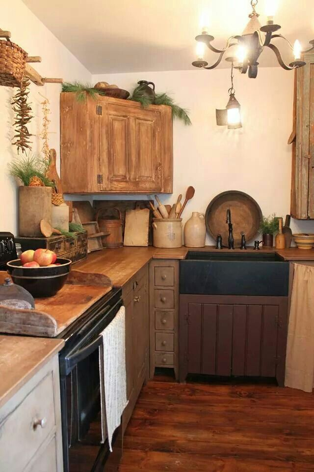 Primitive Kitchen Images 385 best primitive kitchens♥ images on pinterest | primitive