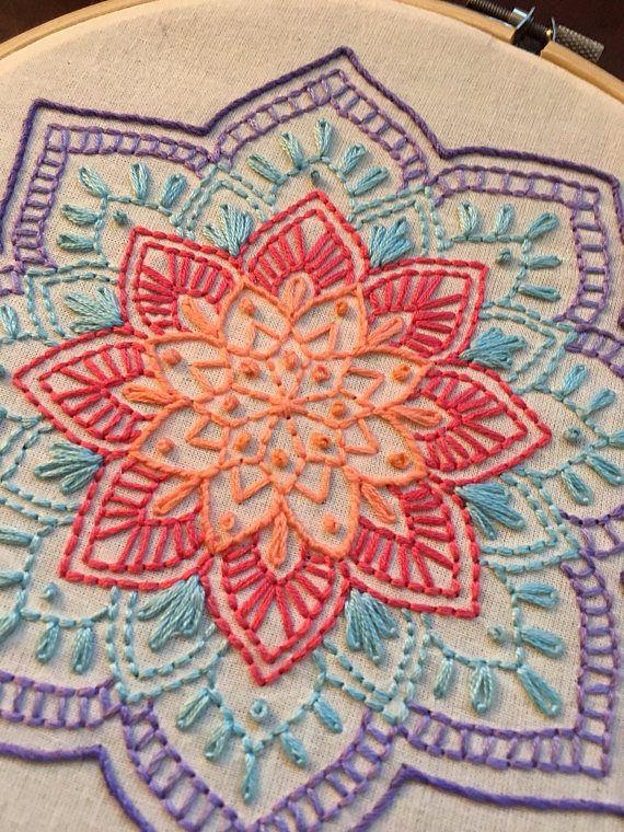 Colorul Mandala Embroidery Hoop Art Wall Decor 8″