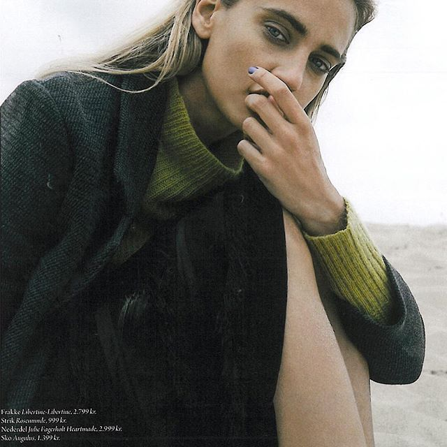 Layer up our chunky knit as in the latest issue of @modemagasinet_in #knit…