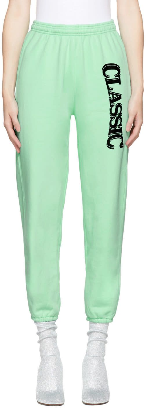 Ashley Williams - SSENSE Exclusive Green 'Classic' Lounge Pants