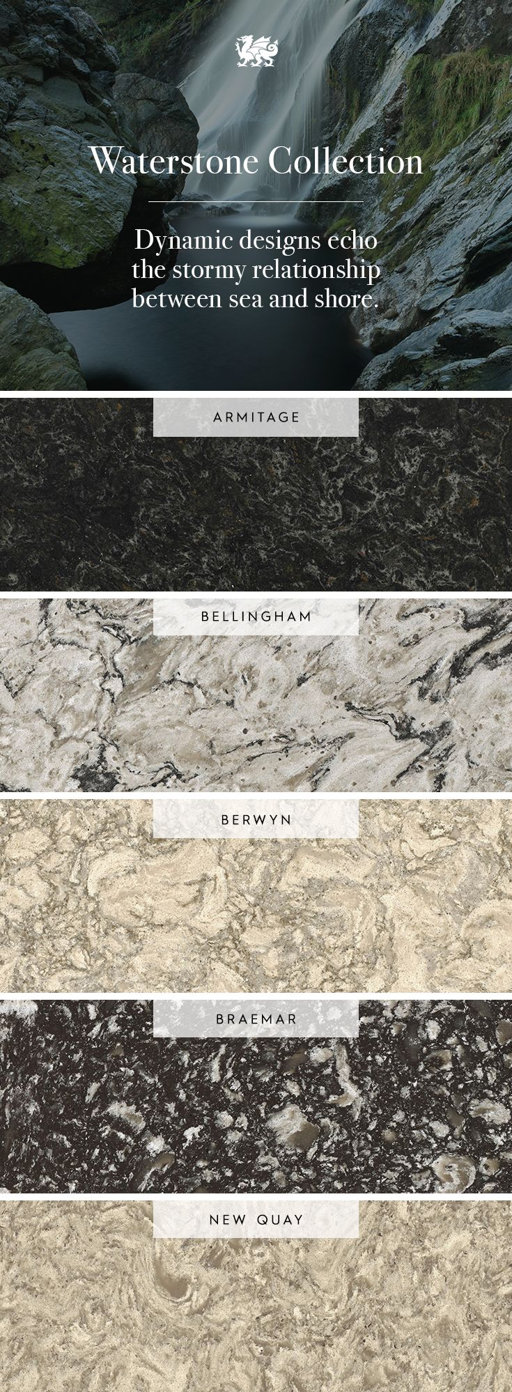 Lapidus premium product search marva marble and granite - Bring Home The Churning Energy Of Our Waterstone Collection During Your Next Renovation