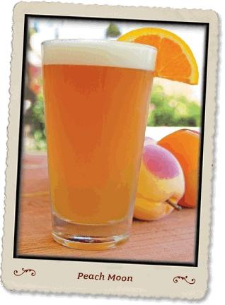 Peach moon - blue moon, peach schnapps, and orange juice!