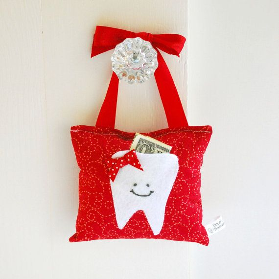 Girl's Tooth Fairy Pillow Tooth Fairy Gift by ToothFairyPillowShop, $18.00