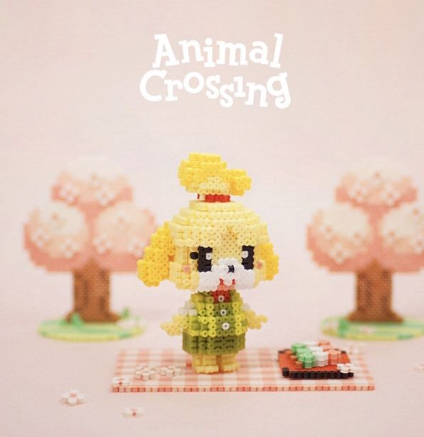Diy Animal Crossing 3d Perler Bead Pattern Tutorial 3d Perler Bead Perler Bead Patterns Animal Crossing