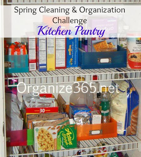 Organized Pantry And Pantry Tips: Organize 365 Spring Cleaning And Organization Challenge